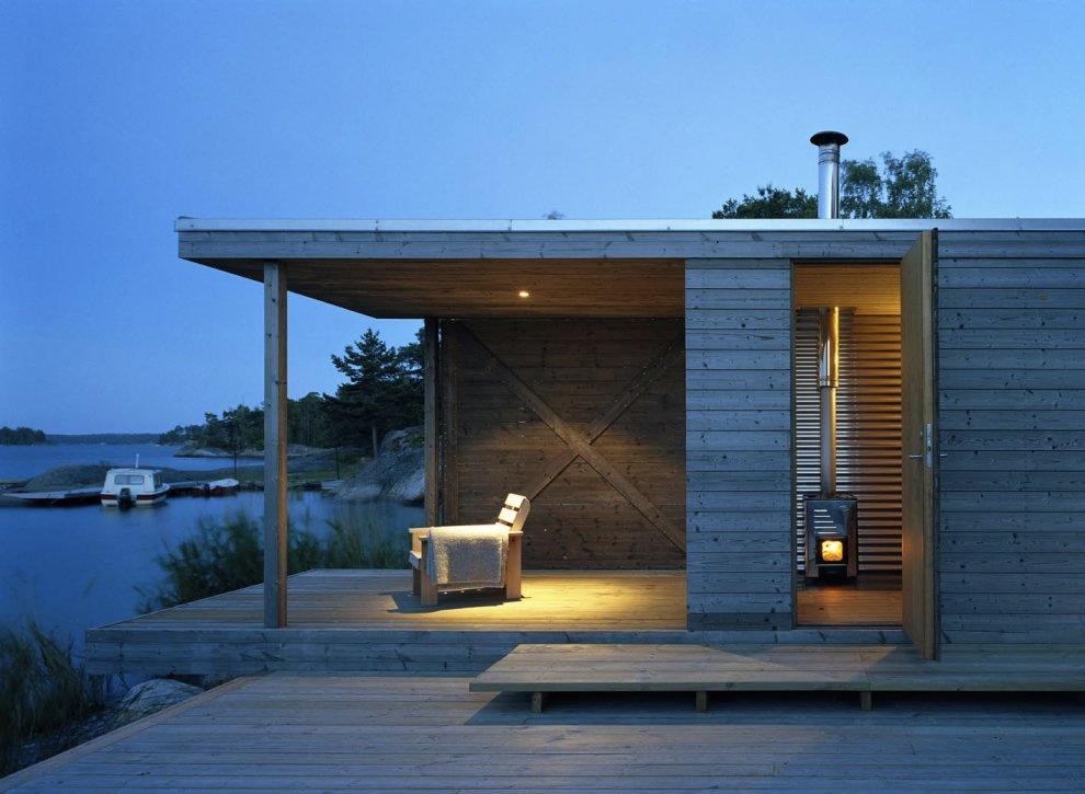 sauna in the swedish archipelago northern spaces. Black Bedroom Furniture Sets. Home Design Ideas